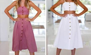 £8.49 instead of £29.99 (from Hey4Beauty) for a women's bow skirt co-ord set –save 70%