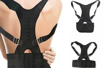 £6.98 instead of £16.99 (from Avant Garde) for an adjustable back support –save 59%