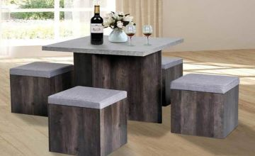 £149 instead of £249 (from MHstar) for a contemporary 5pc grey dining set - save 40%