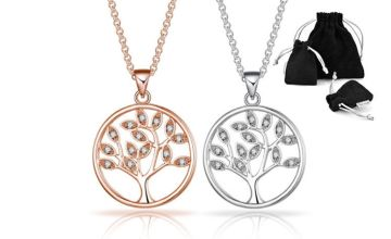 £7.99 instead of £17.99 for a Philip Jones tree of life necklace made with with crystals from Swarovski® from Silver Supermarket Ltd - save 56%