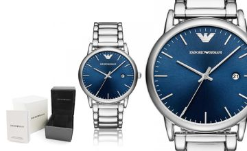 £109 instead of £229 (from Ticara Watches) for a Emporio Armani AR11089 men's blue dial watch - save 52%