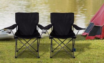 £7.99 instead of £34.99 (from Zoozio) for a single folding camping chair, or £14.99 for two chairs - save up to 77%