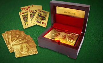 £6.99 instead of £39.99 (from London Exchain Store) for a pack of gold-plated playing cards - save 83%