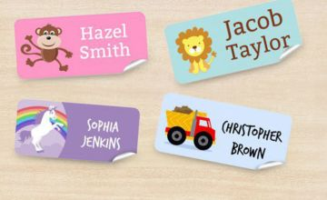 £3.99 instead of £11.99 (from Dinkleboo) for a pack of 48 kids name sticker labels - save 67%