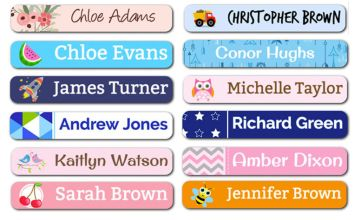 £3.99 instead of £11.99 (from Dinkleboo) for a pack of 78 mini kid's name labels - save 67%