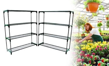 £19.99 instead of £66.63 (from Who Needs Shops) for a double pack of 4-tier greenhouse shelving units - save 70%