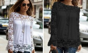 £7.99 instead of £29.99 (from MBLogic) for floral crochet sleeve top - save 73%