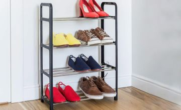 £5.99 instead of £29.99 (from Wishwhooshoffers) for a compact four-tier shoe rack, or £10.99 for a matching pair - save 80%