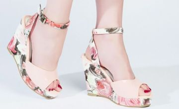 £14.99 instead of £24.01 (from Forever Love Me London) for a pair of floral-print wedge sandals - choose from two colours and save 38%