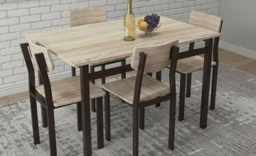 £129 instead of £485 (from Selsie) for a rectangular dining table and chairs set - save 73%