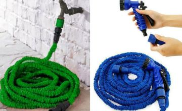 £8.99 instead of £29.99 (from GiftGadget) for an expandable garden hose and spray gun – choose from two colours and save 70%