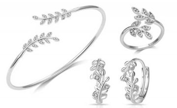 £14 instead of £137 (from Your Ideal Gift) for a leaf bangle set made with crystals from Swarovski® - save 90%