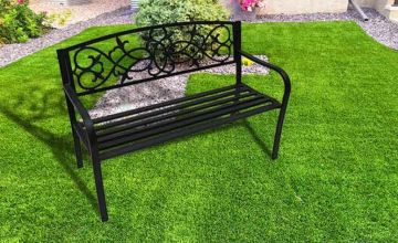 £38 instead of £183.30 (from Who Needs Shops) for a two-seater black metal garden bench - save 79%