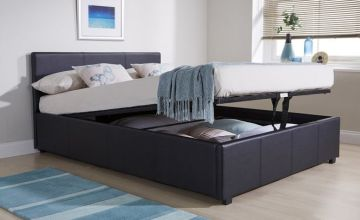 From £219 instead of £589 (from FTA Furnishing) for a faux leather ottoman bed with duvet, pillows and memory foam mattress - choose from four sizes and save up to 63%