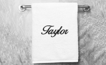 £9.99 (from Dinkleboo) for a kids personalised embroidered plush towel