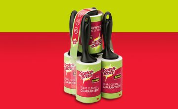 £16.99 instead of £21.95 (Trojan Electronics) for a pack of five Scotch-Brite lint rollers - save 23%