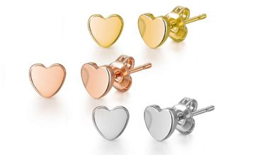 £3.99 instead of £8 (from Philip Jones) for a pair of heart stud earrings - save 50%