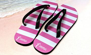 £9.99 instead of £49.99 (from Your Perfect Canvas) for a pair of personalised flip flops - save 80%