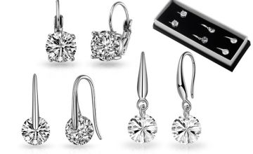 £11.99 instead of £29.99 (from Philip Jones) for three pairs of drop earrings – save 60%