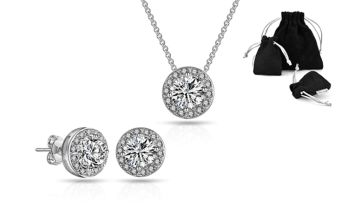 £11.99 instead of £28 (from Philip Jones) for a halo jewellery set made with crystals from Swarovski® - save 57%