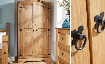 £139 (from Big Furniture Warehouse) for a Corona two-door solid wooden wardrobe