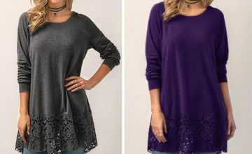 £6.98 instead of £29.99 (from MBLogic) for a long sleeved lace t-shirt - save 77%