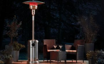 £69.99 instead of £199.99 (from CJ Offers) for a table top garden glow gas patio heater or £129.99 for a free-standing floor gas patio heater - save up to 65%