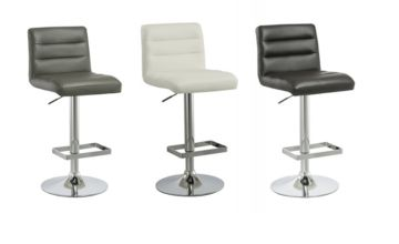 From £29.99 (from Big Furniture Warehouse) for a PU leather and chrome bar stool - choose from four designs