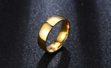 £12 for a mens gold plated wedding band ring from GameChanger Associates