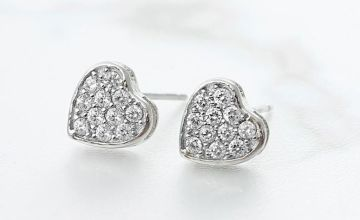 £10 instead of £69.99 for a sterling silver love earrings with germanium from GameChanger Associates - save 86%