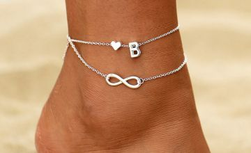 £4 instead of £19.99 (from Litnfleek) for an initial anklet with an infinity charm - choose your initial and save 80%