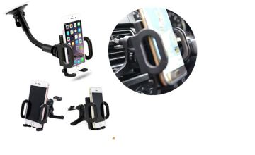 £3.99 instead of £14.99 for an in-car dashboard or air vent phone mount holder from TMD GLOBAL LTD - save 73%