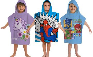 From £5.99 for a kids' character poncho towel!