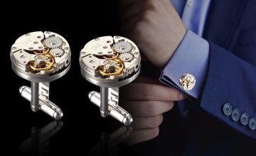 £6.99 instead of £29.99 (from London ExchainStore) for a pair of steampunk-style watch component cufflinks - save 77%
