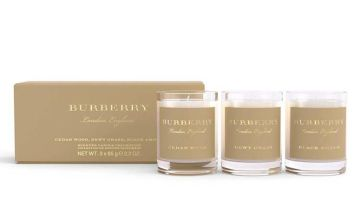 £25.99 for a set of three Burberry scented candles