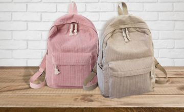£9.99 instead of £29.99 (from WowWhatWho) for a corduroy backpack - choose from six colours and save 67%