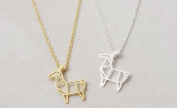 £4.99 (from YourIdealGift) for a geometric alpaca pendant necklace - choose from two colours