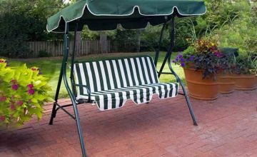 £39.99 instead of £134.99 (from Groundlevel) for a three-seater garden swing chair with canopy - save 70%