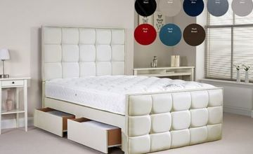 From £289.99 for a divan bed with quadratic upholstered headboard from Dreamtouch Mattresses LTD - save up to 64%
