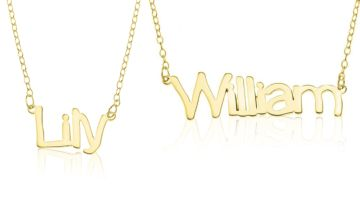 £16 instead of £59.99 (from Optima Jewellery) for a personalised name necklace - save 73%