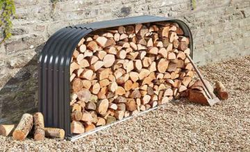 £59.99 instead of £179.99 (from CJ Offers) for a horizontal or vertical metal log storage unit - save up to 67%
