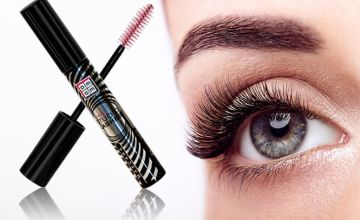 £5.99 (from Max Care Cosmetics) for a studio lashes mascara, £11 for two mascaras
