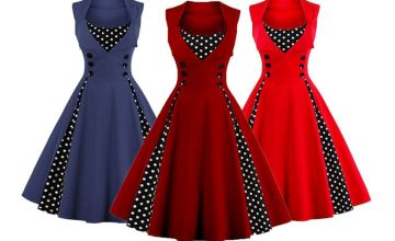 £12.99 instead of £39.99 (from Blu Fish) for a retro polka dot swing dress – choose from six colours and save 68%