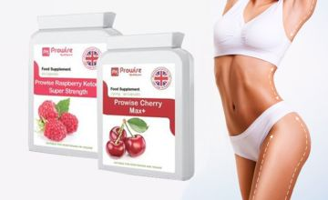 £9.99 instead of £39.99 for raspberry ketones & cherry capsules bundle from PROWISE HEALTHCARE LTD - save 75%