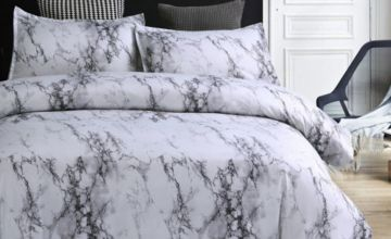 From £12 instead of £59.99 (from Backtogoo) for a marble-effect bedding set - choose from four sizes and save up to 80%