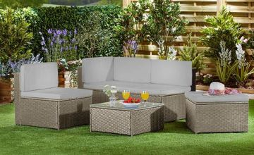 £269 instead of £379.95 (from CJ Offers) for a four-seater durable polyrattan sofa set with cushion covers or £279 for a rattan set, cushion covers and rain cover - save up to 29%