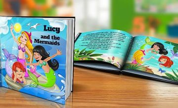 £4.99 instead of £14.99 (from Dinkleboo) for a soft cover personalised children's story book or £7.99 for a hard cover book – choose from five books - save 67%
