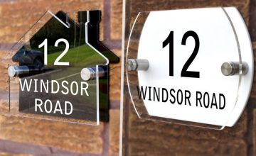 £9.99 instead of £24.99 for a personalised acrylic house sign - choose from two designs from Fab Deco Ltd - Deco Matters - save 60%