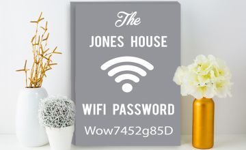 From £2.99 for a personalised wi-fi password canvas from Fab Deco Ltd - Deco Matters - save up to 90%