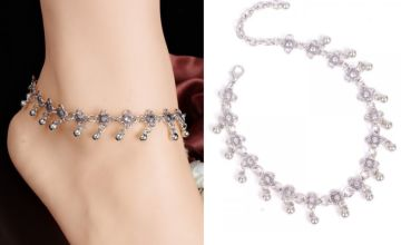 £3.99 instead of £19.99 (from My Blufish) for a silver daisy chain dangling anklet - save 80%
